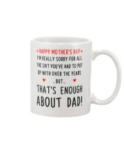 Enough About Dad Mug front