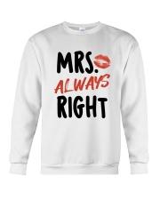 Mrs Right Crewneck Sweatshirt thumbnail