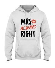 Mrs Right Hooded Sweatshirt thumbnail
