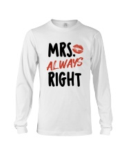 Mrs Right Long Sleeve Tee front