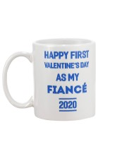 Happy First Valentine's Day As My Fiance Mug back