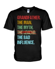 Grandfather Bad Influencer V-Neck T-Shirt thumbnail