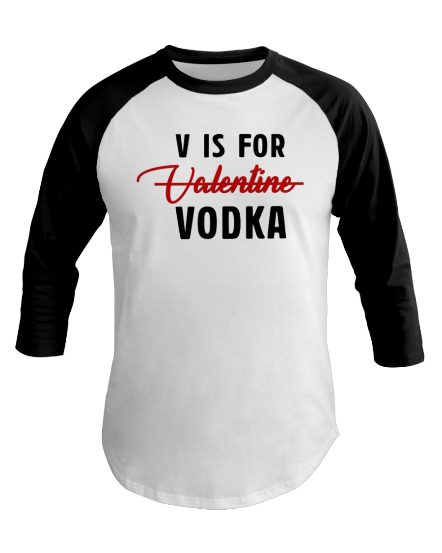 V Is For Valentine Baseball Tee