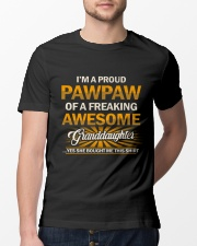 Proud Pawpaw Of An Awesome Granddaughter Classic T-Shirt lifestyle-mens-crewneck-front-13