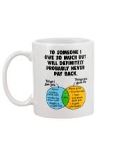 To Someone I Owe So Much Mug back