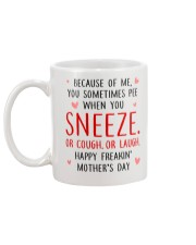 Sneeze Cough Laugh Mug back