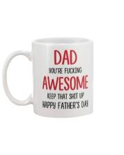 Dad Awesome Keep Up Mug back