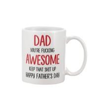 Dad Awesome Keep Up Mug front