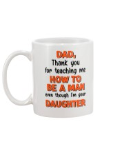 Dad Raise Like Man Mug back