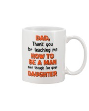 Dad Raise Like Man Mug front