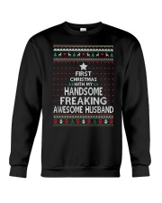 First Christmas Pretty Freaking Crewneck Sweatshirt front