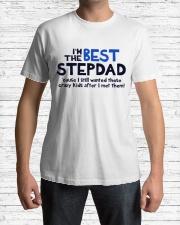 I'm The Best Stepdad Premium Fit Mens Tee lifestyle-mens-crewneck-front-1