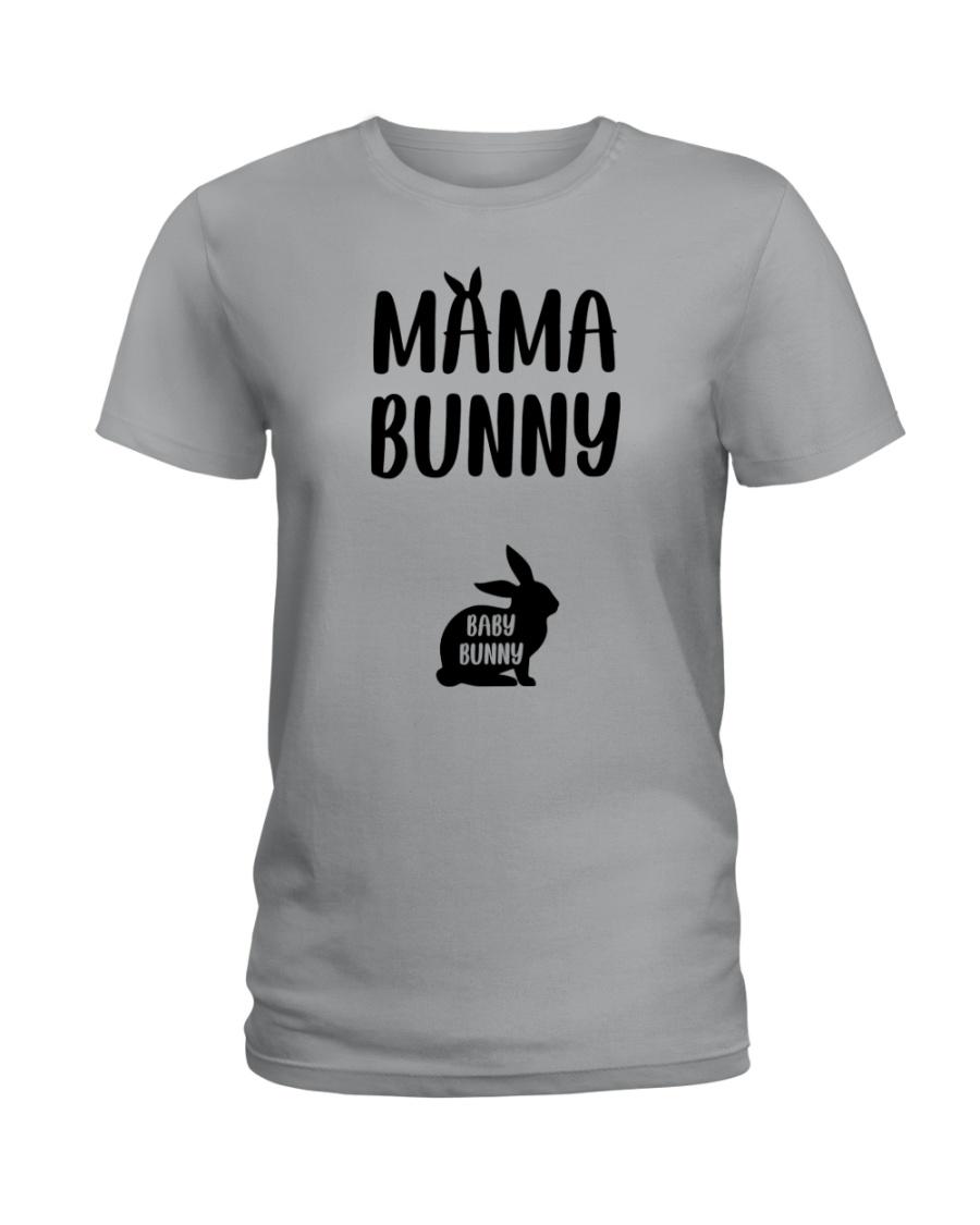 Mama Bunny Pregnancy Ladies T-Shirt