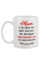 Mum Try Try Again Mug back