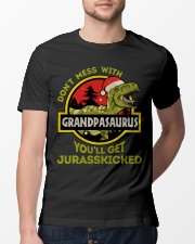 Mess With Grandpasaurus Christmas Classic T-Shirt lifestyle-mens-crewneck-front-13