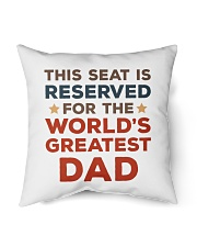 """Reserved Seat For Dad Indoor Pillow - 16"""" x 16"""" thumbnail"""