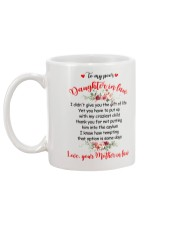 To My Dear Daughter-in-law Mug back
