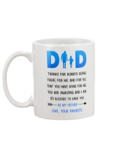 Dad Thanks For Being There Mug back
