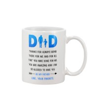 Dad Thanks For Being There Mug tile