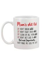 Mom Shit list Mug back