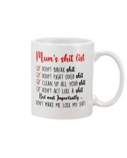 Mom Shit list Mug front
