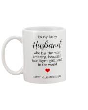 To My Lucky Husband Mug back