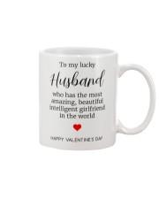 To My Lucky Husband Mug front