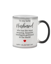 To My Lucky Husband Color Changing Mug thumbnail