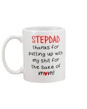Stepdad Thank For Putting Up  Mug back