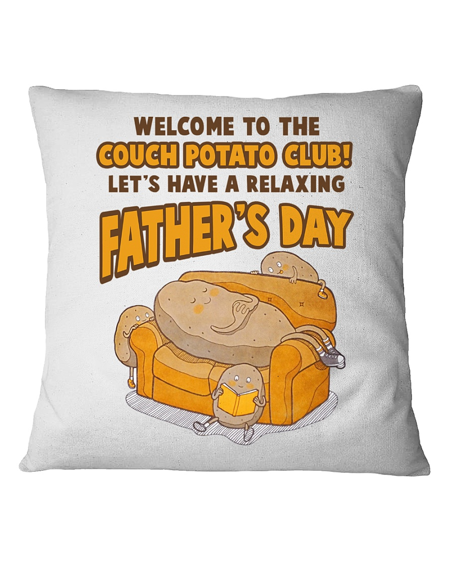 Couch Potato Club Square Pillowcase