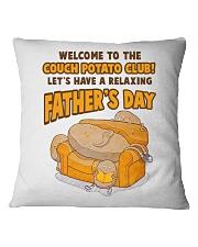 Couch Potato Club Square Pillowcase front