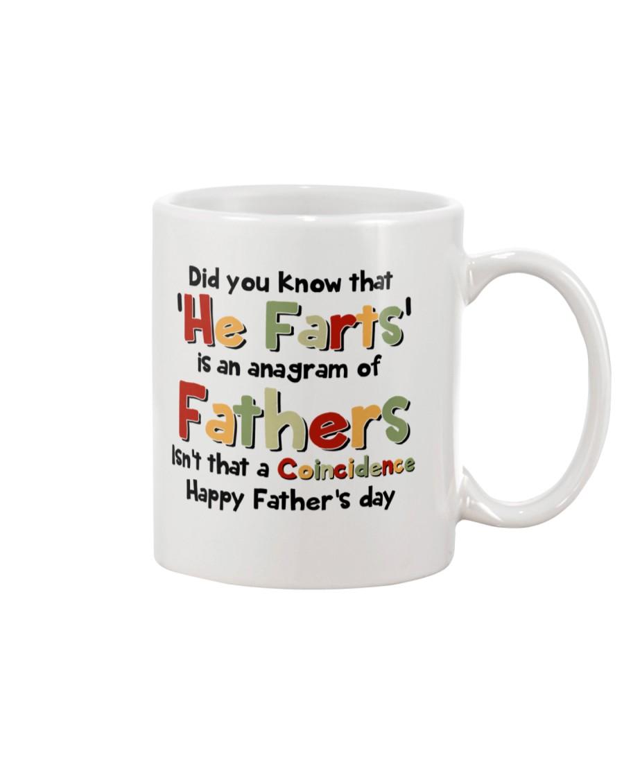 He Farts Anagram Mug