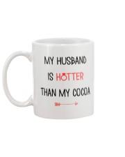 Husband Hotter Than Cocoa  Mug back