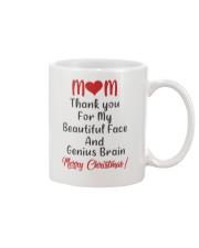 Beautiful Face And Genius Brain Mug front