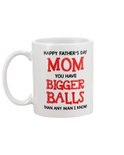 Happy Father's Day Mom Mug back