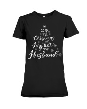 CHRISTMAS TREE FIRST CHRISTMAS Premium Fit Ladies Tee front
