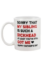 Sorry My Sibling Is A Dickhead Australia Mug back