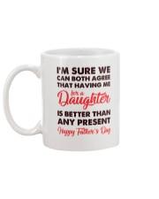 Me For Daughter Dad Mug back