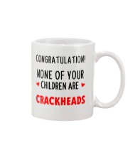 No Crackheads Dad Mug front