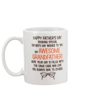Happy Father's Day Card For Grandfather Mug back