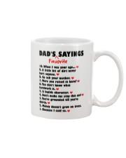 Dad's Favorite Sayings Mug front