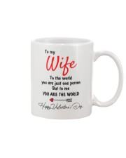 To My Wife The World Mug front