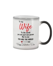 To My Wife The World Color Changing Mug thumbnail