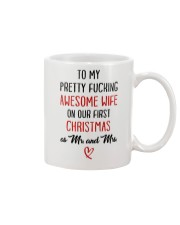 Pretty Awesome Wife First Christmas Mug front
