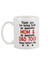 Thanks Being Mom And Dad Mug back
