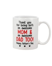 Thanks Being Mom And Dad Mug front