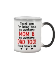 Thanks Being Mom And Dad Color Changing Mug thumbnail