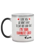 I'm Your Favorite Child Personalized Christmas Mug Color Changing Mug color-changing-left