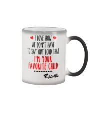 I'm Your Favorite Child Personalized Christmas Mug Color Changing Mug color-changing-right