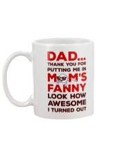 Put Me In Mom's Fanny Mug back